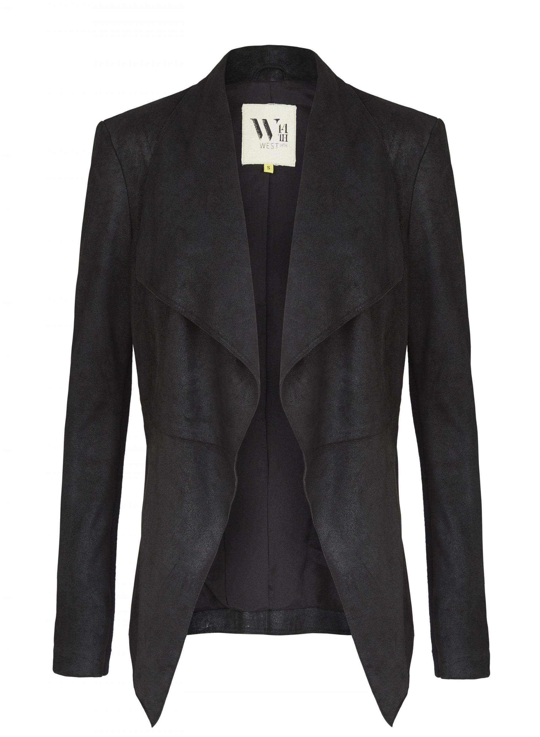 Isabella Drape Jacket Distressed Leather