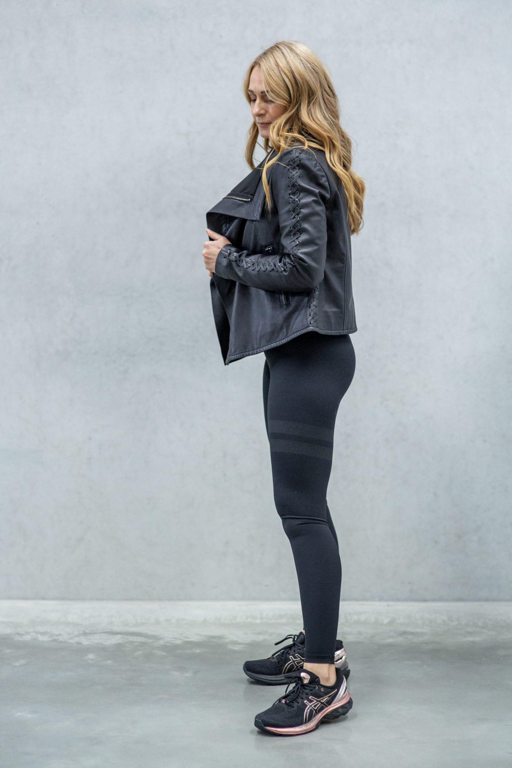 Paddington Drape Leather Jacket